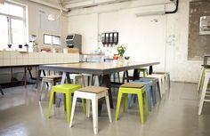 Communal seating idea  Douglas St - COFFEE SUPREME