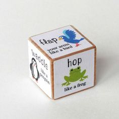 Animal Movement Activity Dice | fun Silhouette project the kids will love!