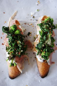Broccoli rabe crostini #Cooking