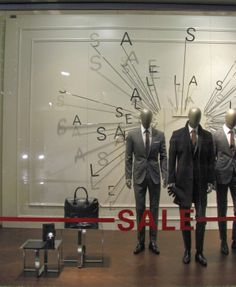 nice, simple and clean SALE window at Boss