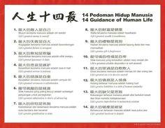 14 guidanxe of human life
