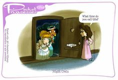 Pocket princess, night owls (I love the pizza slot in the door)