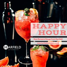 #HappyHour!  The Roltex Barware glasses from Harfield Tableware are virtually #unbreakable! All capacities are measured to the rim (not net) and can be CE marked and #personalised. Come and join us for happy hour!  #barwear #unbreakable #cocktails #spirits #publicsector  #hospitality #happyhour #summerfun  Visit: www.harfieldtableware.co.uk