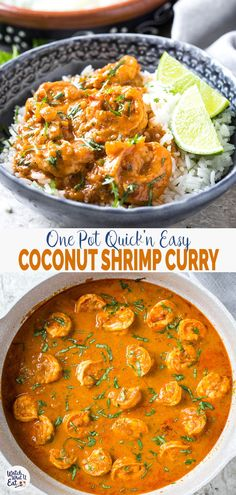 Quick and easy Coconut Shrimp Curry - Delicious shrimp cooked in coconut milk an. - Quick and easy Coconut Shrimp Curry – Delicious shrimp cooked in coconut milk and tomato gravy. Healthy Coconut Shrimp, Coconut Curry Shrimp, Indian Shrimp Curry, Thai Shrimp Curry, Fish Curry, Healthy Dinner Recipes, Cooking Recipes, Beef Recipes, Easy Recipes
