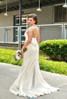 Stacies Custom Wedding Gown With Lowback By Eco Wedding Dress - Custom Wedding Dress Designers