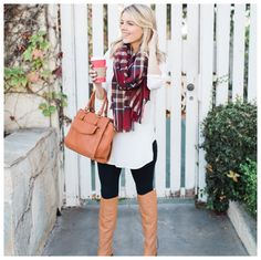 Closing out #CyberMonday with this perfect fall look. Top is $22 and is a great length for leggings (my leggings are $19) which I LIVE in during the fall/winter. Boots, purse & scarf all on sale for 30% off. It's all on the blog! (Click link in bio) http://liketk.it/2pJ3Q @liketoknow.it #liketkit