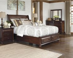 A little extra storage space in our Findler bedroom set.