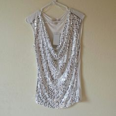 NEW Michael Kors sequin front top Adorable nwt Michael kors sequin front short sleeved top Michael Kors Tops Tees - Short Sleeve