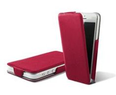 Funda con tapa Ultra Slim para iPhone 5 rojo