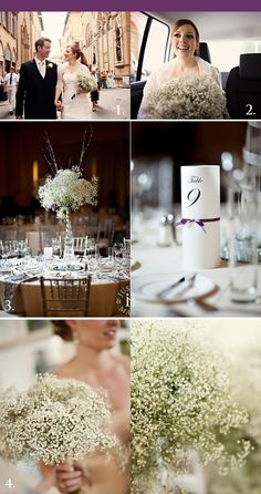 baby breath wedding theme decor inspiration details