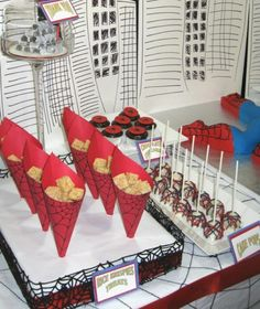 Spiderman Cones and Pops