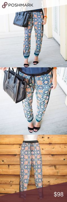 """Like New Clover Canyon Print Pants Size M Clover Canyon Print Pants Size M  Clover Canyon Print Pants  Size M  *No signs of use  Details: Clover Canyon  Size: Medium  Two front pockets  100% Polyester   Measurements: Waist: 30-38"""" Hips: 44"""" Inseam: 27 Clover Canyon Pants Ankle & Cropped"""