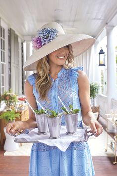 """ Here are some of our favorite Kentucky Derby party ideas for an amazing viewing party at home. Kentucky Derby Outfit, Kentucky Derby Party Ideas, Kentucky Derby Fashion, Derby Outfits, Derby Attire, Hats For Women, Clothes For Women, Run For The Roses, Derby Winners"