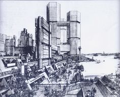 Concept for Battery Park City in 1969, New York City