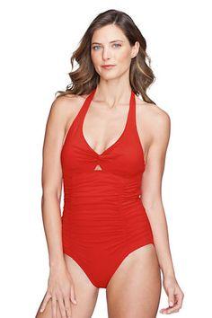 Women's Isla Vista Twist One Piece Swimsuit from Lands' End
