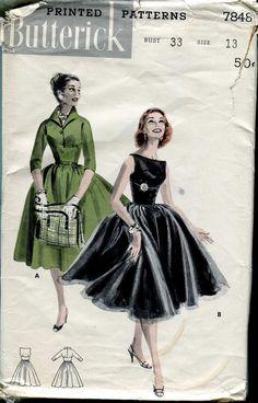 Butterick 7848 - Vintage 50s Special Dress Pattern