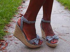 MIA -Karmen in B & W Gingham  http://tuttelemiescarpe.blogspot.com/2012/07/saturday-shoe-review-preview-july-1st.html