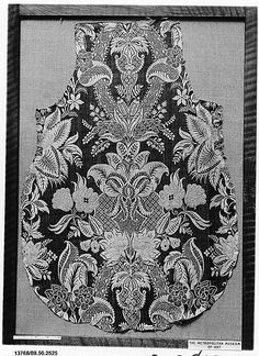 1720–25 Embroidery Works, Gold Embroidery, Embroidery Stitches, Antique Prints, Indian Ethnic, Sketch, Textiles, Antiques, Lace