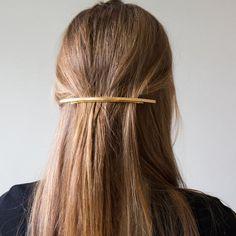 Sylvain Le Hen Gold Hair Barrette   Kindred Black