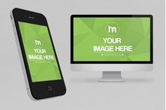 iPhone and Monitor 3D Website Showcase Mockup Template | ShareTemplates