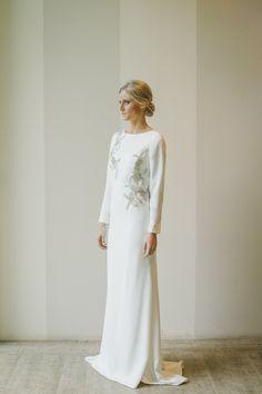 Vestido de novia minimal Bride dress Robe du mariée