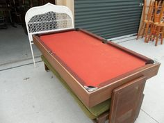 A couch that converts to a pool table - epic!
