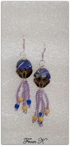 Beaded Earrings, Drop Earrings, Seed Beads, Polymer Clay, Dangles, Wire, Facebook, Crystals, Flowers