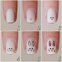 Cute bunny nail art tutorials