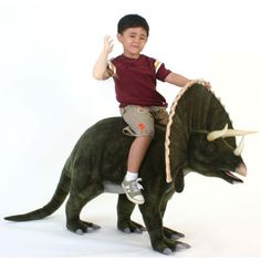Pint Sized Fun Giant Stuffed Animals Trixie The Large Triceratops at PoshTots Giant Stuffed Animals, Dinosaur Stuffed Animal, Dinosaur Toys, Dinosaurs, Dinosaur Party, Animal Habitats, Ride On Toys, Crafts For Boys, Bedroom Themes
