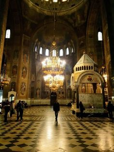 The interior of the magnificent Alexander Nevsky Cathedral in Sofia, Bulgaria. It's a must visit!