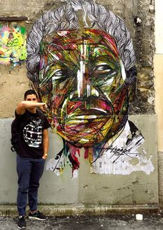 By Hopare of Nelson Mandela in Paris, France.