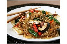 Vegetarian Jap Chae (Korean Glass Noodle Stir-Fry) [Today's post is by my friend Alice of Savory Sweet Life. Alice's blog &helip;