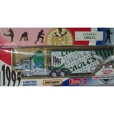 Philadelphia Eagles 1995 NFL 1/87 Diecast Tractor Trailer Peterbilt Kenworth Truck Collectible Limited Edition Football Team Car By White Rose Matchbox by NFL  $28.89