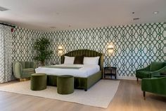 Palms Hotel, Palm Springs, Bungalow, Colonial, Art Deco, Bed, Furniture, Home Decor, Decoration Home