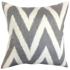 Cotton pillow with a chevron motif and down fill. Made in the USA.   Product: PillowConstruction Material: Cotton cove...