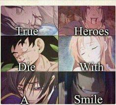 Les vrais héros meurent avec un sourire - Otaku