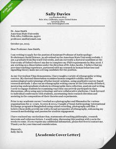 associate professor cover letter