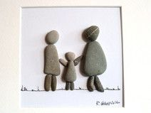 Steinbild - Kieselstein - Familie Rock Family, Family Family, Easy Crafts To Sell, Diy Crafts, Pebble Stone, Stone Art, Pebble Art Family, Pebble Pictures, Etsy