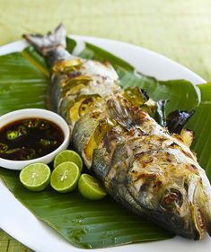 Grilled Whole Fish with Chili Soy Dipping Sauce | Steamy Kitchen Recipes
