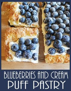 Blueberries and Cream Puff Pastry from Jamie Cooks It Up! #jamiecooksitup, #dessert, #blueberries