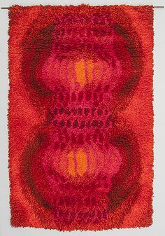 Terttu Tomero Katiska (Katsa) Rya Rug, Wool Rug, Mid Century Art, Mid Century Design, Latch Hook Rugs, Textiles, Home Rugs, Rug Hooking, Floor Rugs