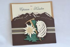 Wedding Invitation for mountain lovers