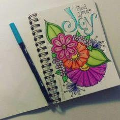 Find your Joy! #watercolors #tombow #doodleart #motivation #happyart #handlettering #debipaynedesigns