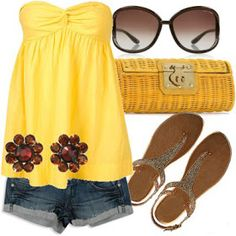 Love this Summer Outfit but not sure if I can wear yellow....