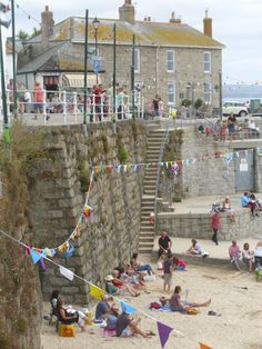 Mousehole Beach... Cornwall... Remembered the name of the restaurant - THE LOBSTER POT