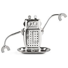 Robot tea infuser. Because I'm a fan of loose tea infusion. And this little dude looks like he's taking a soak in a hot tub while he steeps (see photo #2 on link site) #Robot
