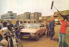 On the set of the Sweeney episode 'Drag act'