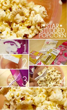 Star Studded Popcorn for a Hollywood theme party