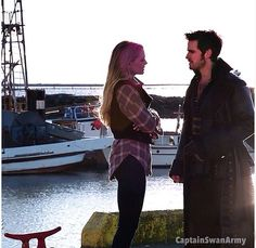 Little chat by the docks... I'm surprised he didn't kiss her, although, of course, Henry was there.