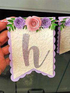 Banner de feliz cumpleaños floral con flores de papel y   Etsy